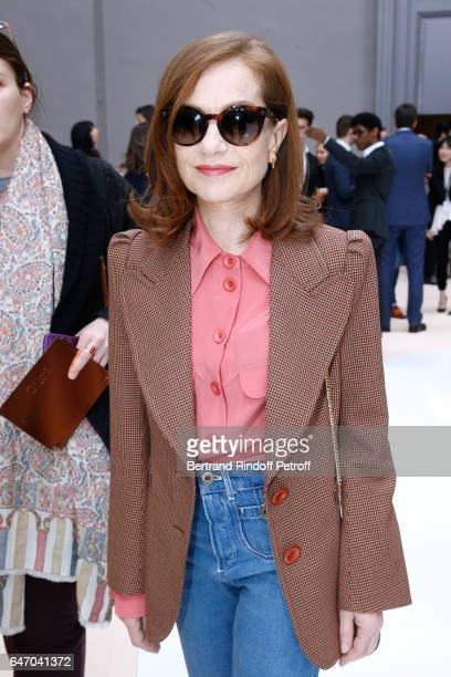 Actress Isabelle Huppert attends the Chloe show as part of the Paris Fashion Week Womenswear Fall/Winter 2017/2018 on March 2 2017 in Paris France