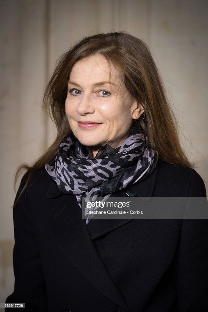 Actress Isabelle Huppert attends the Christian Dior show as part of Paris Fashion Week Haute Couture Spring/Summer 2014, in Paris.