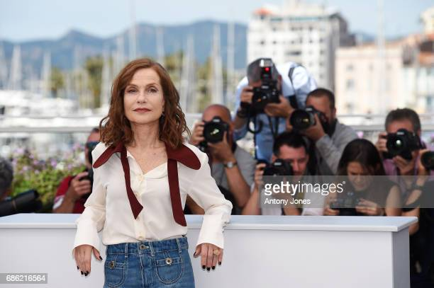 Actress Isabelle Huppert attends the 'Claire's Camera ' photocall during the 70th annual Cannes Film Festival at Palais des Festivals on May 21 2017...
