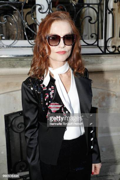 Actress Isabelle Huppert attends the Giorgio Armani Prive Haute Couture Fall Winter 2018/2019 show as part of Paris Fashion Week on July 3 2018 in...