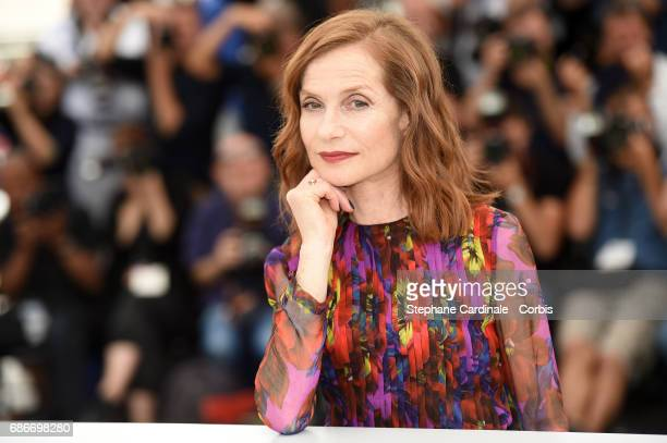 Actress Isabelle Huppert attends the 'Happy End' photocall during the 70th annual Cannes Film Festival on May 22 2017 in Cannes France