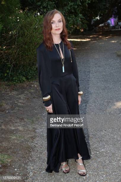 """Actress Isabelle Huppert attends the """"La Daronne"""" Photocall at 13th Angouleme French-Speaking Film Festival on September 02, 2020 in Angouleme,..."""