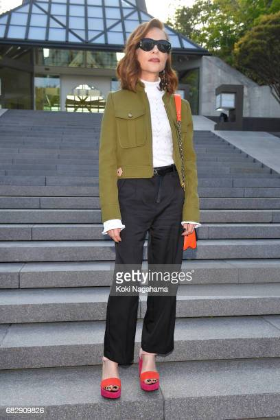 Actress Isabelle Huppert attends the Louis Vuitton Resort 2018 show at the Miho Museum on May 14 2017 in Koka Japan