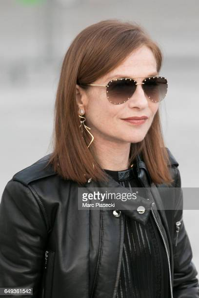 Actress Isabelle Huppert attends the Louis Vuitton show as part of the Paris Fashion Week Womenswear Fall/Winter 2017/2018 on March 7 2017 in Paris...