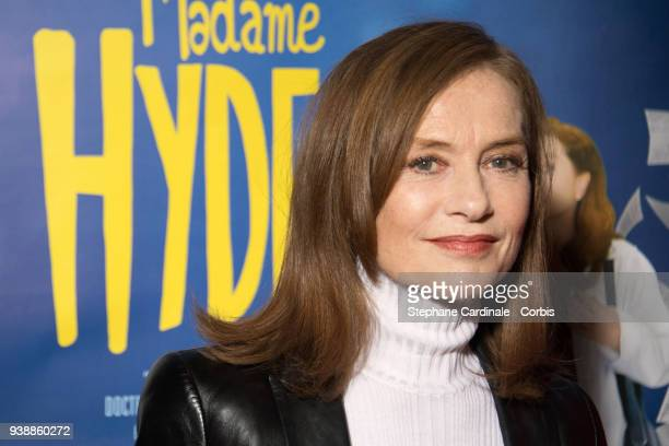 Actress Isabelle Huppert attends the 'Madame Hyde' Paris Premiere at Cinema Gaumont Capucine on March 27 2018 in Paris France