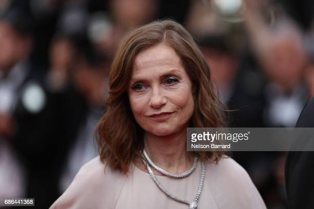 Actress Isabelle Huppert attends 'The Meyerowitz Stories' screening during the 70th annual Cannes Film Festival at Palais des Festivals on May 21...