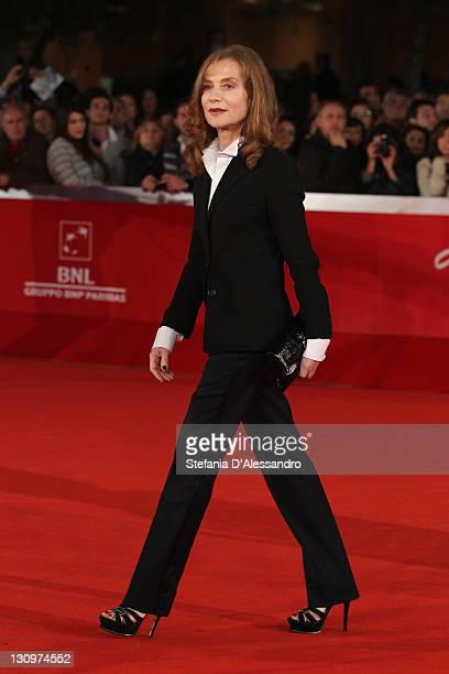 Actress Isabelle Huppert attends the 'Mon Pire Cauchemar' Premiere during the 6th International Rome Film Festival on October 30 2011 in Rome Italy