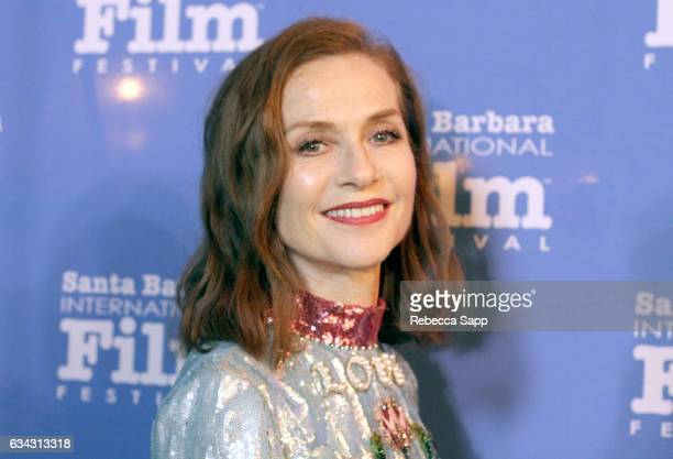 Actress Isabelle Huppert attends the Montecito Award during the 32nd Santa Barbara International Film Festival at the Arlington Theatre on February 8...