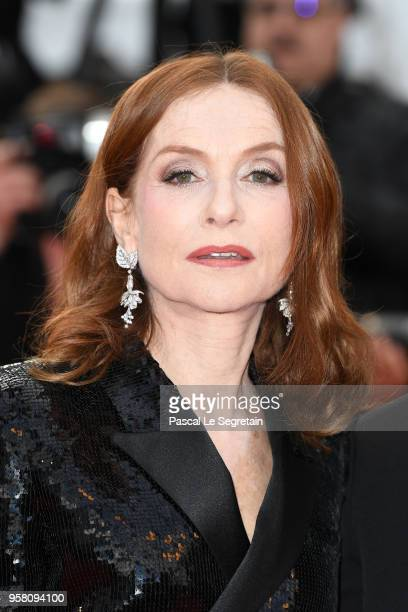 Actress Isabelle Huppert attends the screening of 'Sink Or Swim ' during the 71st annual Cannes Film Festival at Palais des Festivals on May 13 2018...