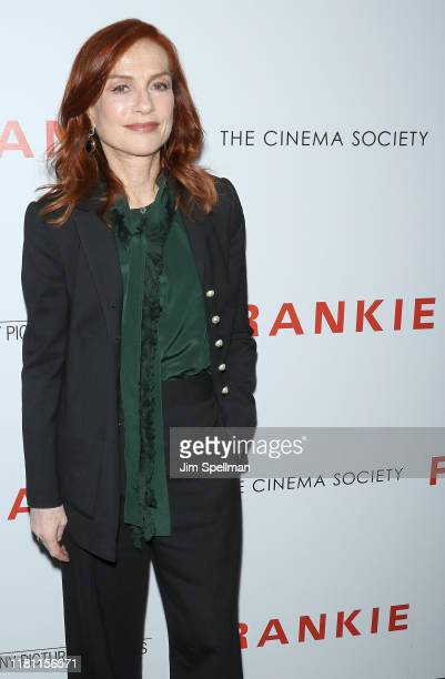 """Actress Isabelle Huppert attends the special screening of """"Frankie"""" hosted by Sony Pictures Classics and The Cinema Society at Metrograph on October..."""