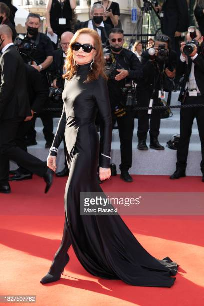 """Actress Isabelle Huppert attends the """"Tout S'est Bien Passe """" screening during the 74th annual Cannes Film Festival on July 07, 2021 in Cannes,..."""