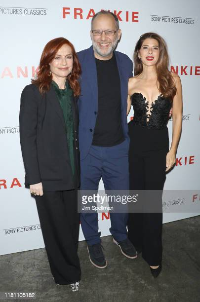 """Actress Isabelle Huppert, director Ira Sachs and actress Marisa Tomei attend the special screening of """"Frankie"""" hosted by Sony Pictures Classics and..."""