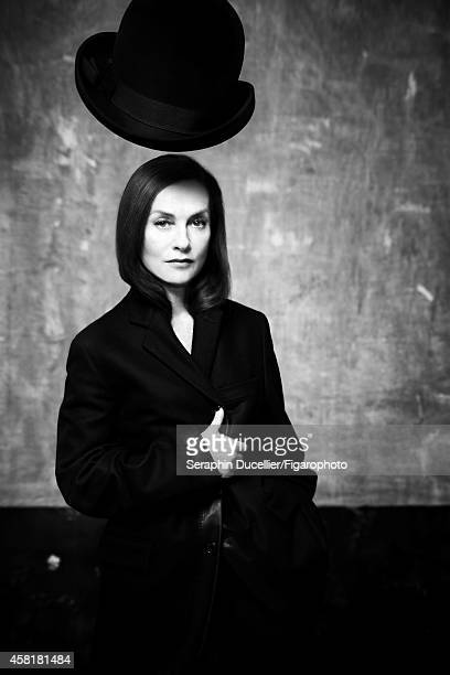 Actress Isabelle Huppert is photographed for Madame Figaro on June 25 2014 in Paris France Jacket and pants hat CREDIT MUST READ Seraphin...