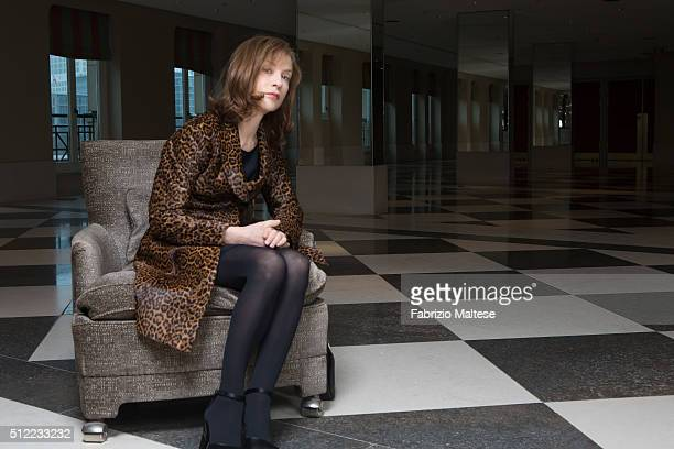 Actress Isabelle Huppert is photographed for The Hollywood Reporter on February 15 2016 in Berlin Germany