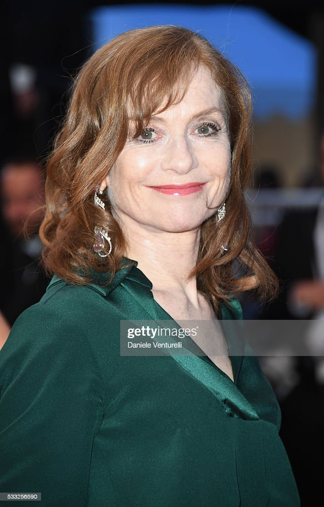Actress Isabelle Huppert leaves the 'Elle' Premiere during the 69th annual Cannes Film Festival at the Palais des Festivals on May 21, 2016 in Cannes, France.