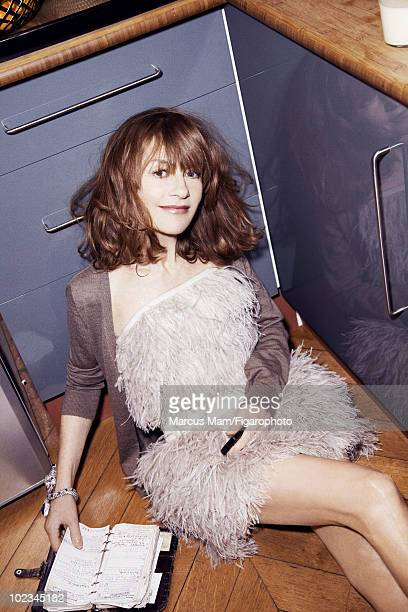 Actress Isabelle Huppert poses at a portrait session for Madame Figaro Magazine in Paris February 2010 Dress by Jay Ahr Bracelet by Cartier Published...