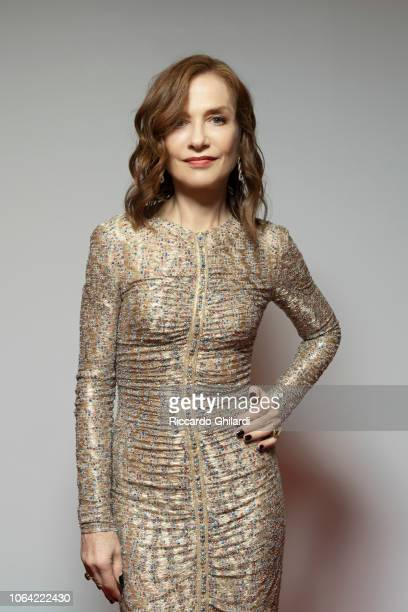 Actress Isabelle Huppert poses for a portrait on October 20 2018 in Rome Italy