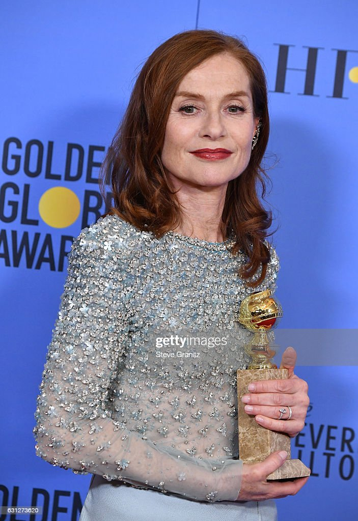 Actress Isabelle Huppert poses in the press room during the 74th Annual Golden Globe Awards at The Beverly Hilton Hotel on January 8, 2017 in Beverly Hills, California.