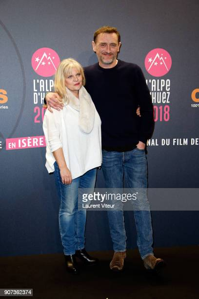 Actress Isabelle Nanty and Actor JeanPaul Rouve attend 'Les Tuches 3 Liberte Egalite FraterniTuche' Premiere during the 21st Alpe D'Huez Comedy Film...