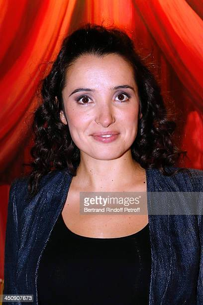 Actress Isabelle Vitari attends Coca Cola Christmas Father Waxwork Unveiling Event at Musee Grevin on November 20 2013 in Paris France