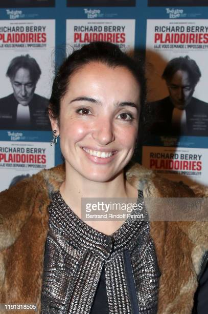 Actress Isabelle Vitari attends Plaidoiries at Theatre Libre on December 01 2019 in Paris France