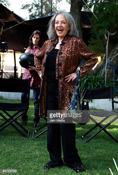 Actress Isela Vega during the making of the movie Los Inadaptados at the Colonia Las Aguilas on December 17 2009 in Mexico City Mexico