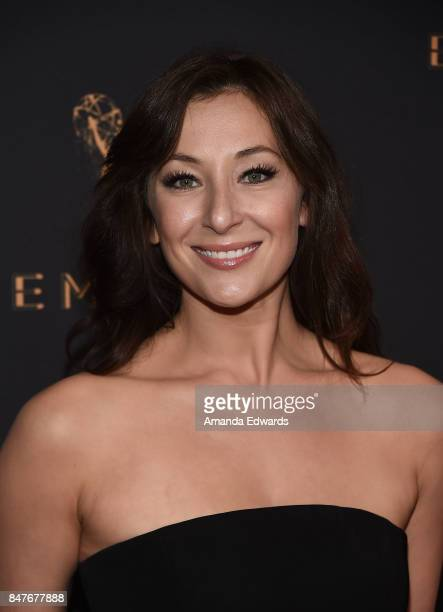 Actress Isidora Goreshter arrives at the Television Academy's Performers Nominee Reception at the Wallis Annenberg Center for the Performing Arts on...
