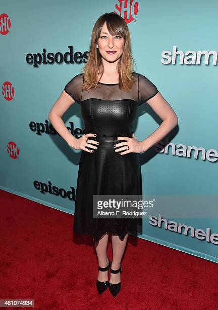 Actress Isidora Goreshter arrives to Showtime's Celebration of AllNew Seasons Of 'Shameless' 'House Of Lies' And 'Episodes' at Cecconi's Restaurant...