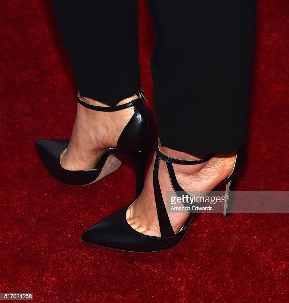 Actress Isidora Goreshter shoe detail arrives at The Women of Showtime's Shameless screening and panel discussion at The London Hotel on March 22...
