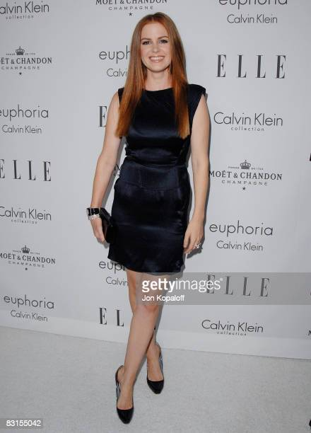"""Actress Isla Fisher arrives at """"Elle Magazine's 15th Annual Women in Hollywood Tribute"""" at the Four Seasons Hotel on October 6, 2008 in Beverly..."""