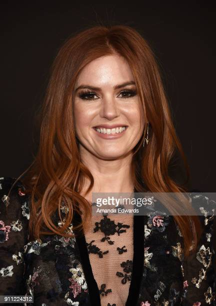 Actress Isla Fisher arrives at the 2018 G'Day USA Los Angeles Black Tie Gala at the InterContinental Los Angeles Downtown on January 27 2018 in Los...