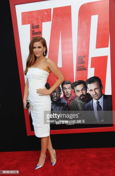 Actress Isla Fisher arrives for the Premiere Of Warner Bros Pictures And New Line Cinema's Tag held at Regency Village Theatre on June 7 2018 in...