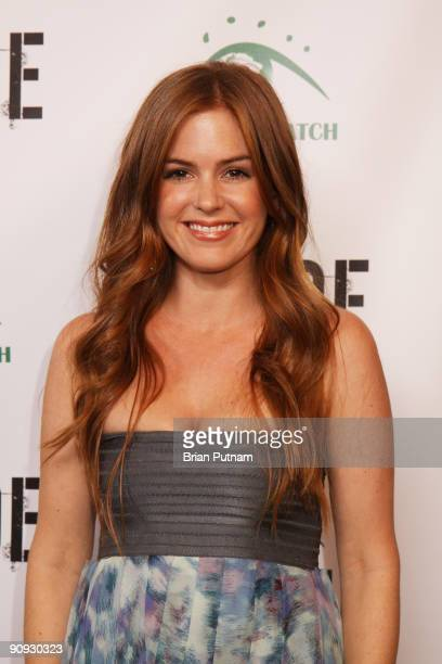 Actress Isla Fisher arrives for the screening of the film 'CRUDE' at Harmony Gold Theatre on September 17 2009 in Los Angeles California