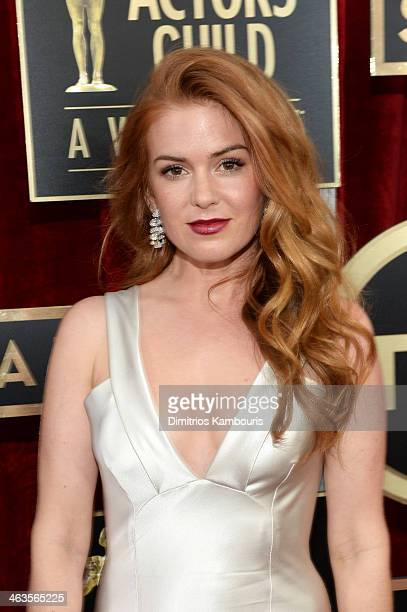 Actress Isla Fisher attends 20th Annual Screen Actors Guild Awards at The Shrine Auditorium on January 18 2014 in Los Angeles California