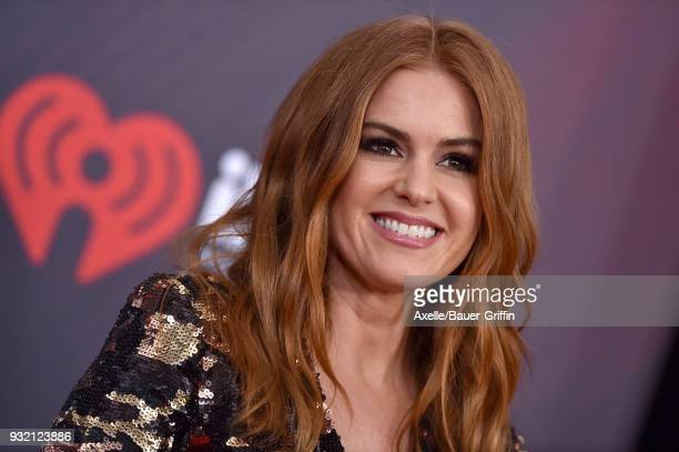Actress Isla Fisher attends the 2018 iHeartRadio Music Awards at the Forum on March 11 2018 in Inglewood California