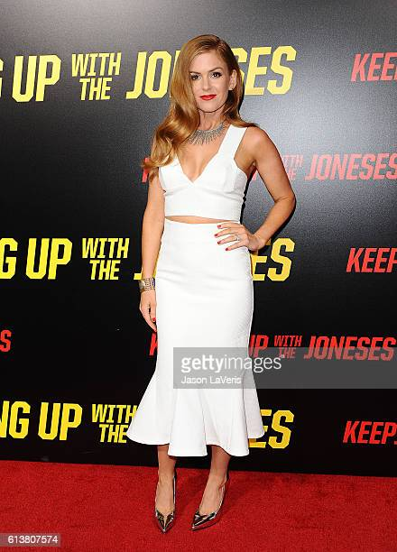Actress Isla Fisher attends the premiere of 'Keeping Up with the Joneses' at Fox Studios on October 8 2016 in Los Angeles California