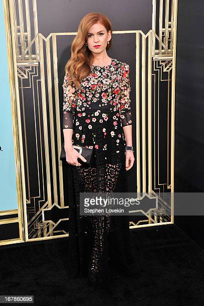 Actress Isla Fisher attends the The Great Gatsby world premiere at Avery Fisher Hall at Lincoln Center for the Performing Arts on May 1 2013 in New...