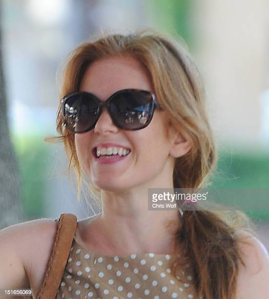 Actress Isla Fisher is seen on September 9 2012 in Los Angeles California