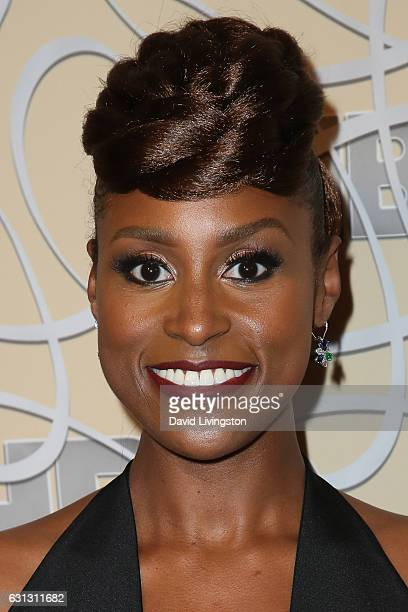 Actress Issa Rae arrives at HBO's Official Golden Globe Awards after party at the Circa 55 Restaurant on January 8 2017 in Los Angeles California