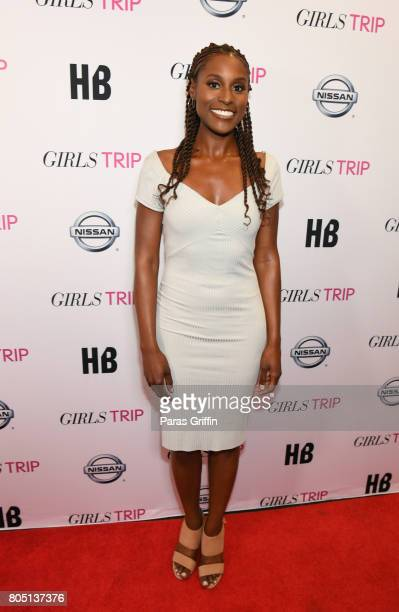 Actress Issa Rae at 'Girls Trip' New Orleans screening at Theatres at Canal Place on June 30 2017 in New Orleans Louisiana