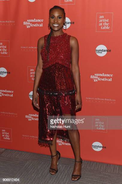 Actress Issa Rae attends An Artist at the Table Cocktail Reception and Dinner during the 2018 Sundance Film Festival at DeJoria Center on January 18...