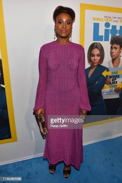 Actress Issa Rae attends Little Atlanta red carpet screening at Regal Atlantic Station on April 04 2019 in Atlanta Georgia