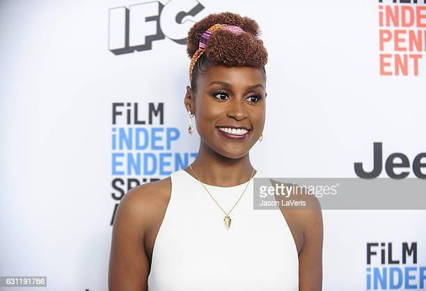 Actress Issa Rae attends the 2017 Film Independent filmmaker grant and Spirit Award nominees brunch at BOA Steakhouse on January 7 2017 in West...