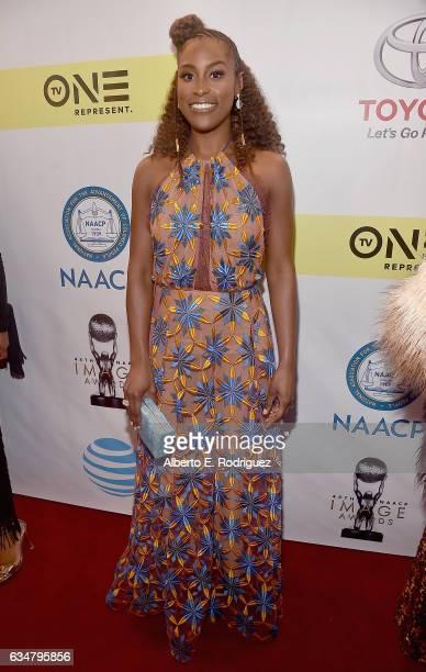 Actress Issa Rae attends the 48th NAACP Image Awards at Pasadena Civic Auditorium on February 11 2017 in Pasadena California
