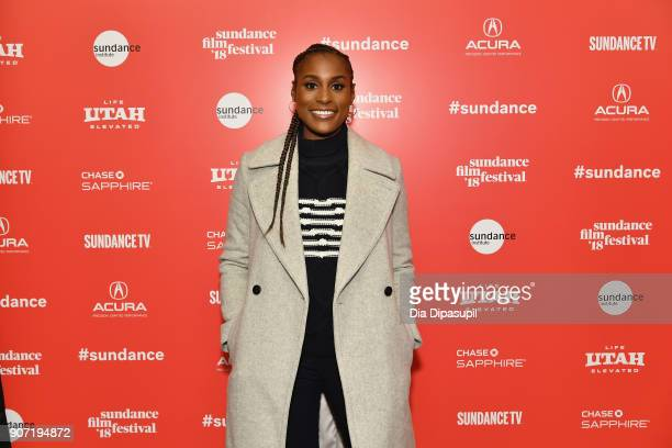 Actress Issa Rae attends the Power Of Story Panel Culture Shift during the 2018 Sundance Film Festival at Egyptian Theatre on January 19 2018 in Park...