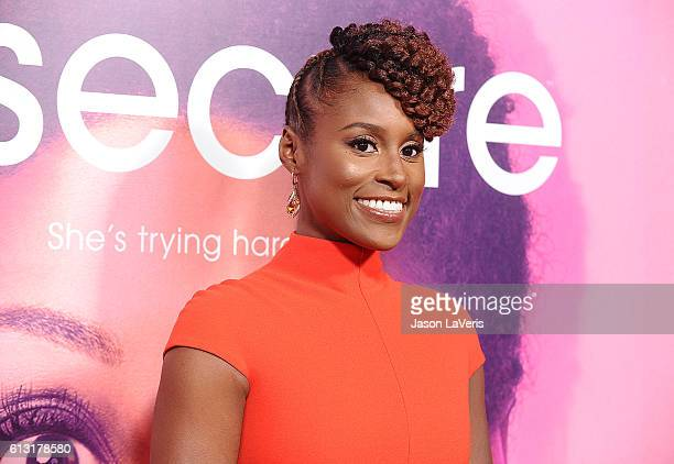 Actress Issa Rae attends the premiere of Insecure at Nate Holden Performing Arts Center on October 6 2016 in Los Angeles California