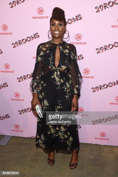 Actress Issa Rae attends the Refinery29 Third Annual 29Rooms Turn It Into Art event on September 7 2017 in the Brooklyn borough of New York City