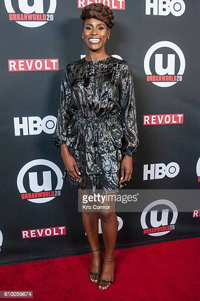 """Actress Issa Rae attends the screening of HBO's new sitcom """"Insecure"""" during the 2016 Urbanworld Film Festival at AMC Empire 25 theater on September..."""