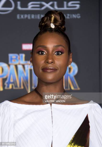 Actress Issa Rae attends the world premiere of Marvel Studios Black Panther, on January 29 in Hollywood, California. / AFP PHOTO / VALERIE MACON