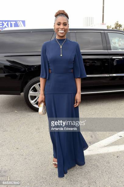 Actress Issa Rae during the 2017 Film Independent Spirit Awards at the Santa Monica Pier on February 25 2017 in Santa Monica California
